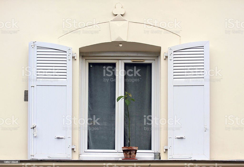 Window on Montmartre, Paris. royalty-free stock photo