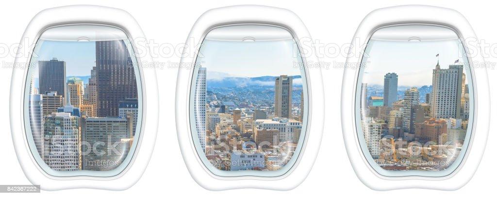 Window on San Francisco stock photo
