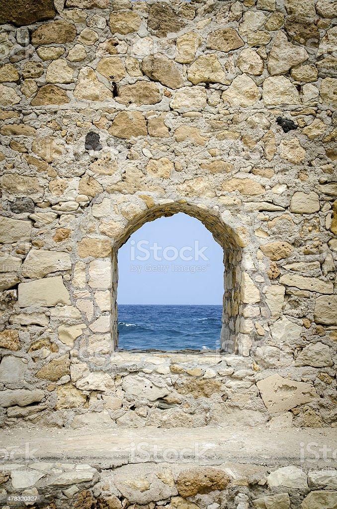 Fenster auf das Meer Lizenzfreies stock-foto