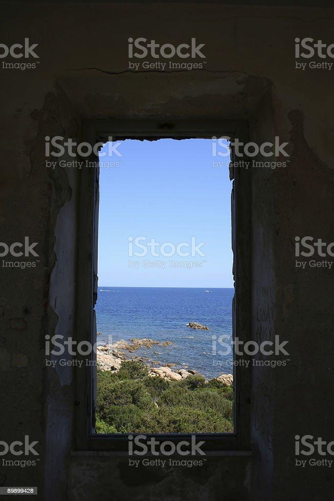 Ventana en el mar foto de stock libre de derechos