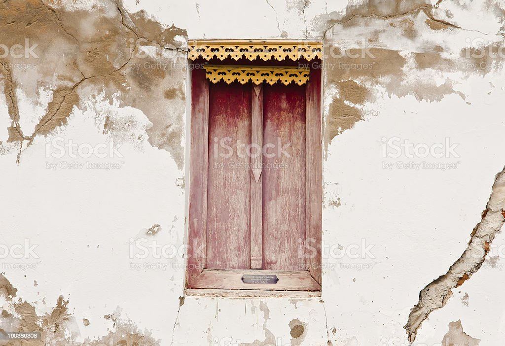 Window on the wall. royalty-free stock photo