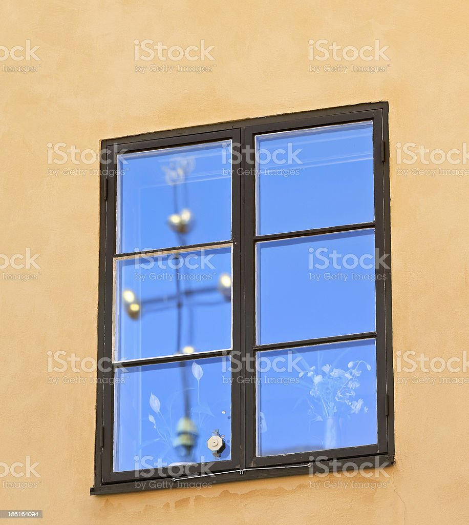 Window on the wall, Stockholm - Sweden - Scandinavia royalty-free stock photo