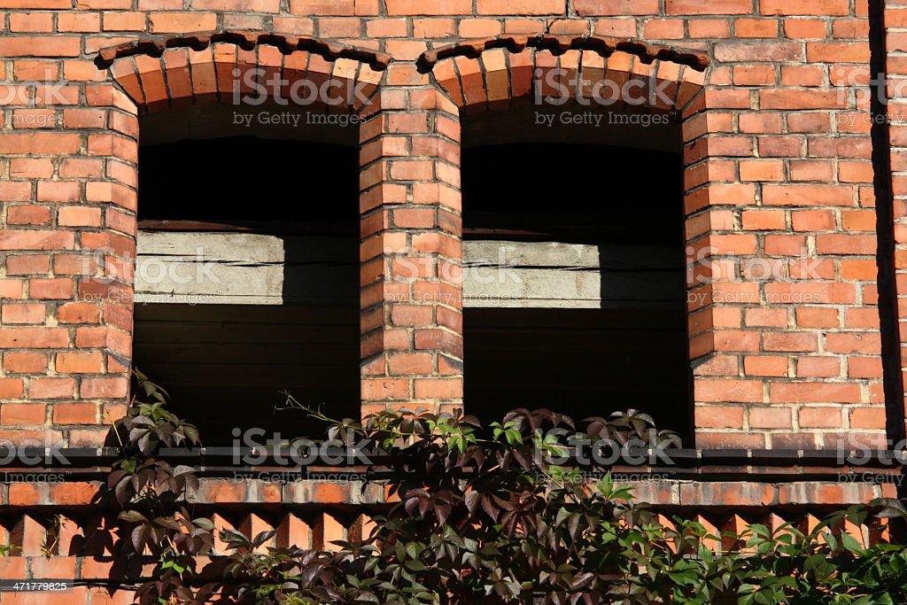 Window openings stock photo