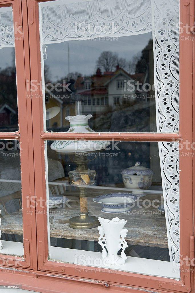 Window peeping royalty-free stock photo