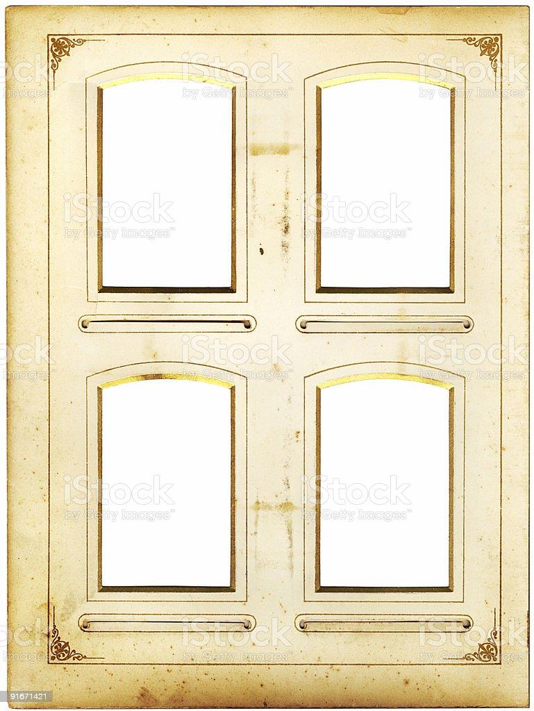 Window photo frame royalty-free stock photo