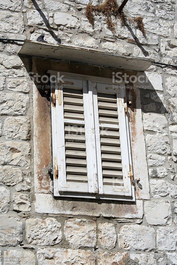 La fenêtre photo libre de droits
