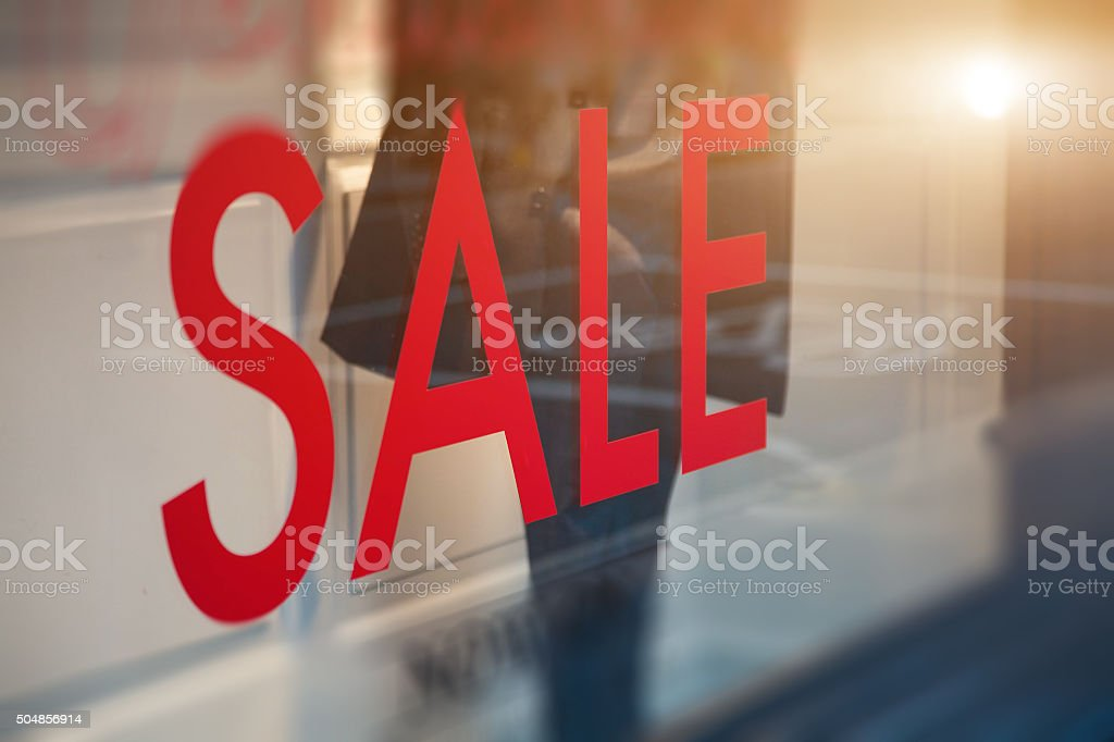 Window Sale Display stock photo