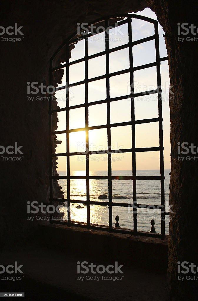 Window, Sea, Sun and Sunset