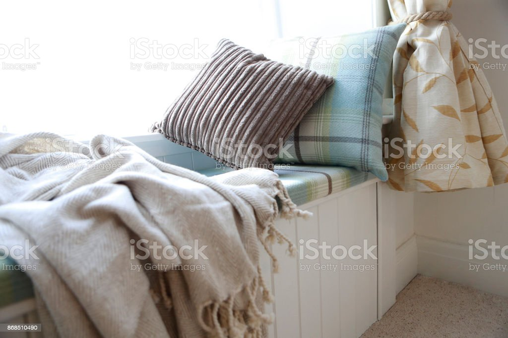 Window Seat In House stock photo