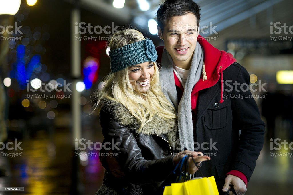 window shoppers royalty-free stock photo
