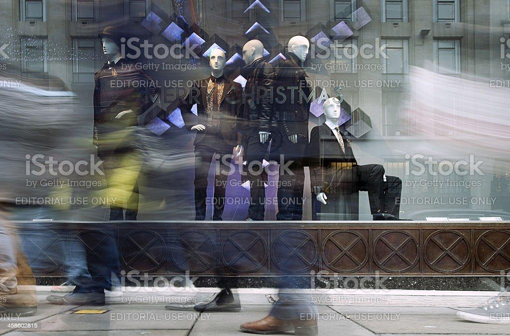Window shopping, Regent Street, London. stock photo