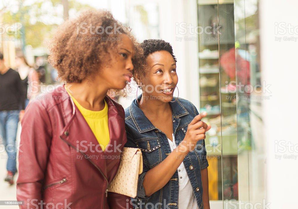 Window Shopping Women stock photo