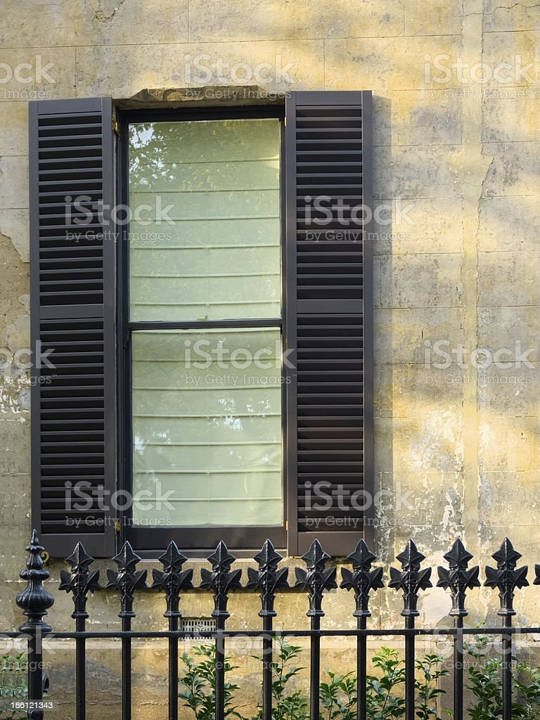 Window shutters royalty-free stock photo