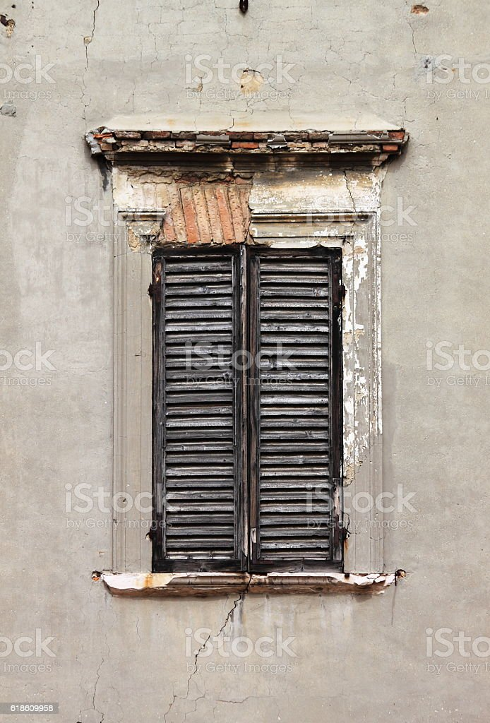 Window shutters stock photo