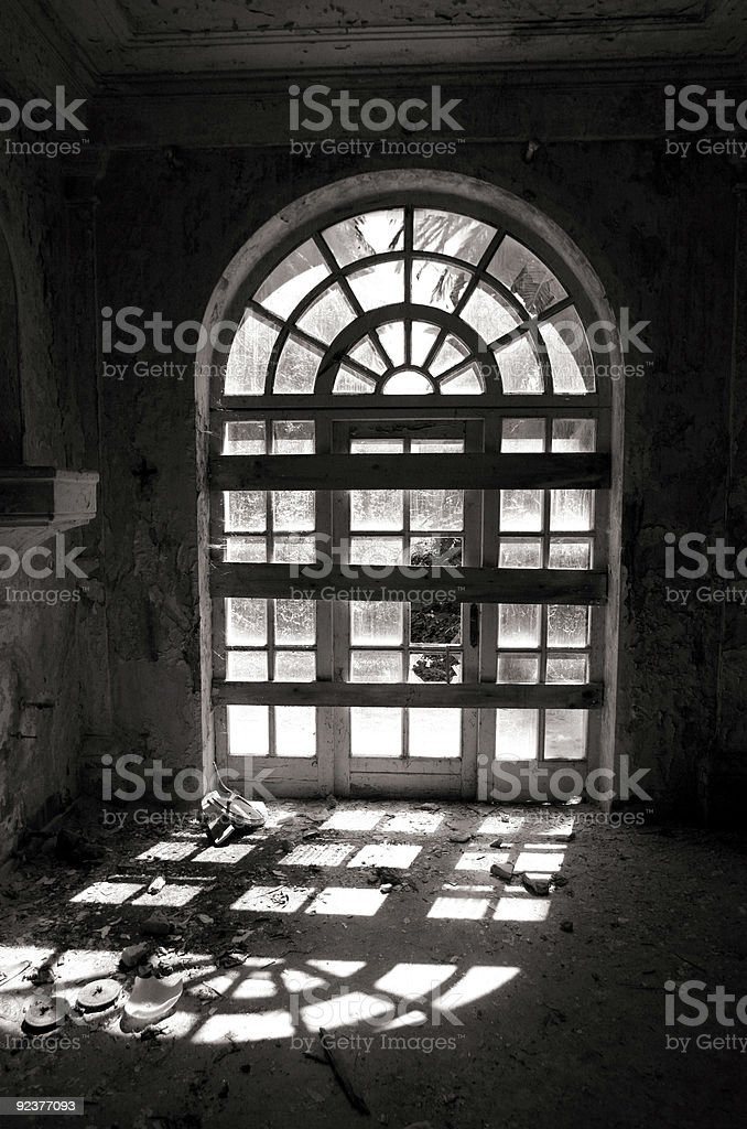 window silhouette royalty-free stock photo
