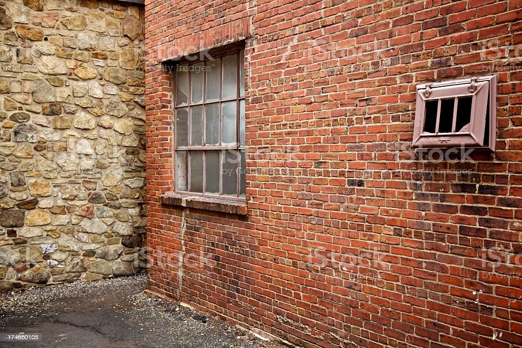 Window Stone and Brick stock photo