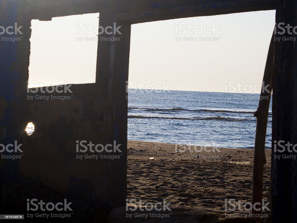 Window that Leads to the Sea royalty-free stock photo