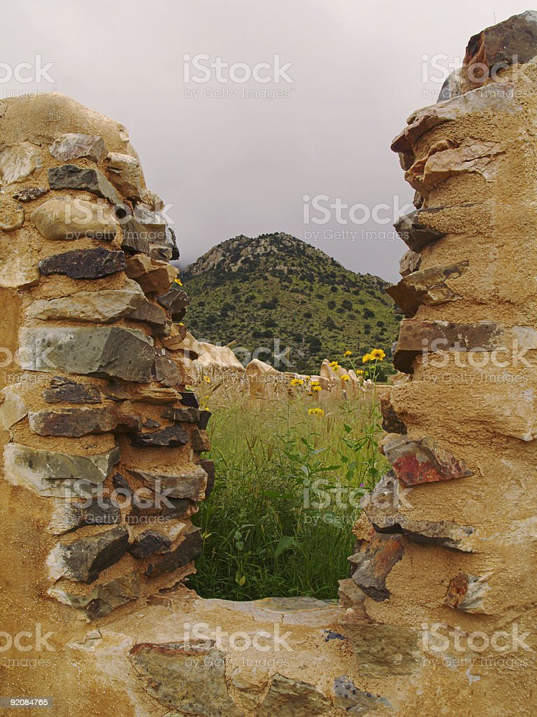 Window To History (with clipping path!) stock photo