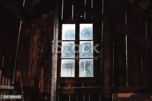 This is a window in Court, Switzerland. It was taken in an old farm, by Levi Zender.