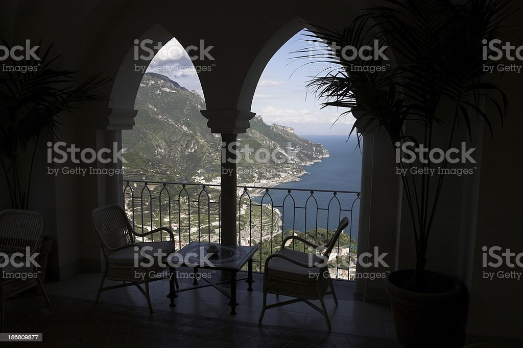 Window to paradise stock photo