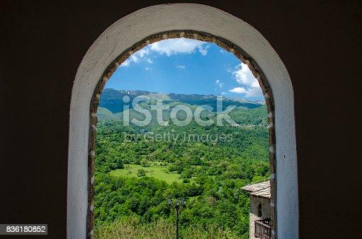 istock Window view – Mavrovo, Macedonia 836180852