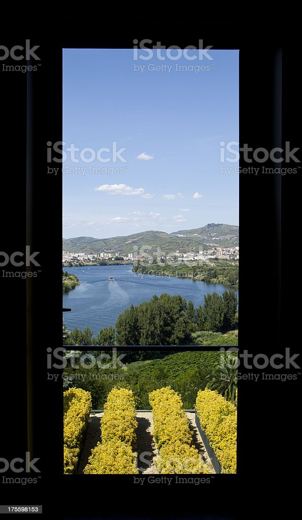 Window view of Douro Valley royalty-free stock photo