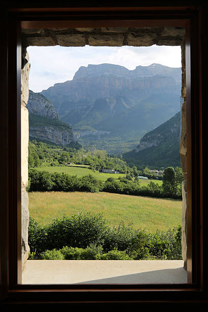 Window View of Mountains