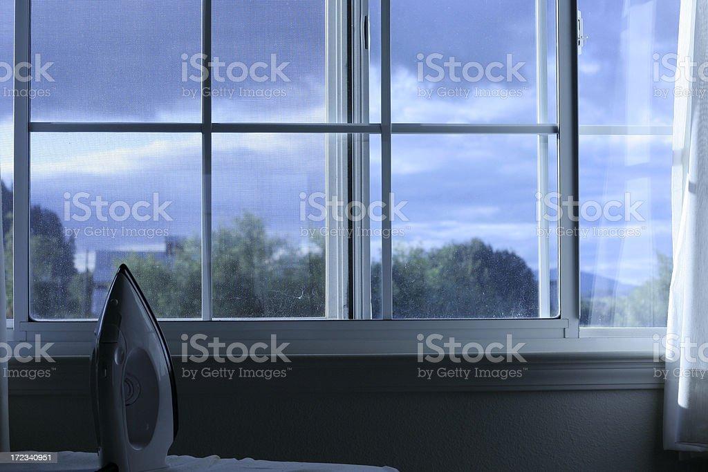Blick aus dem Fenster. – Foto