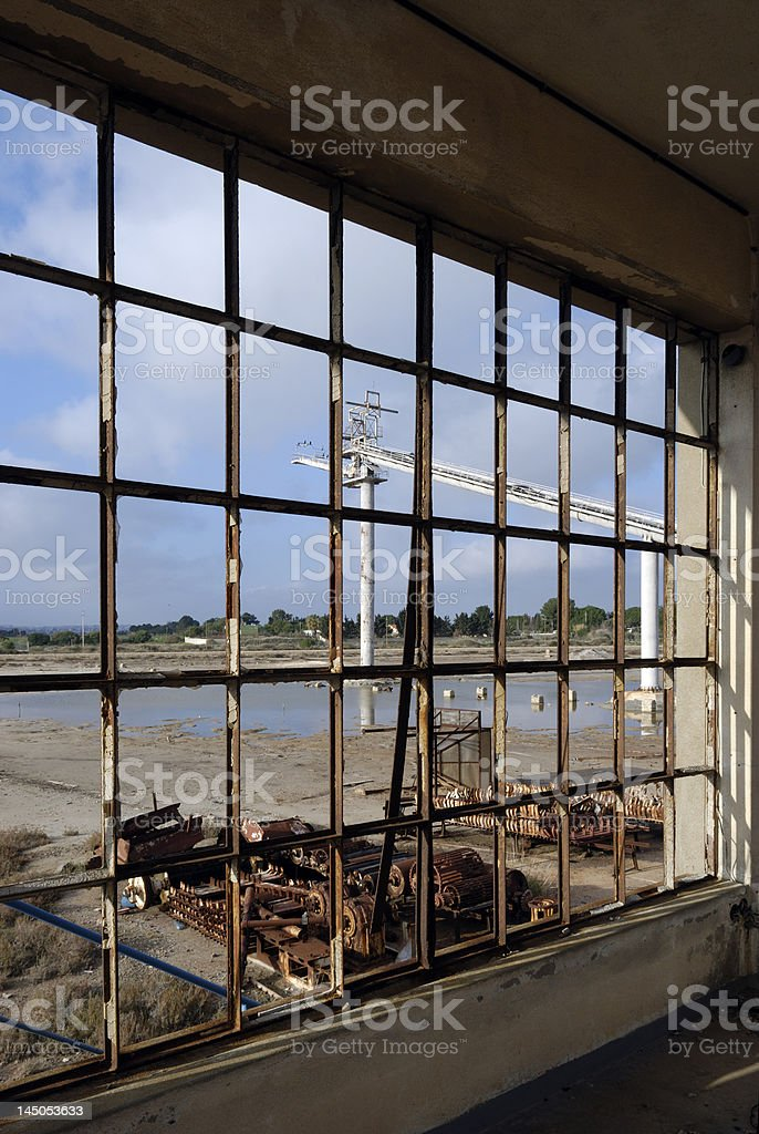 Window Vista - Industrial Decay royalty-free stock photo