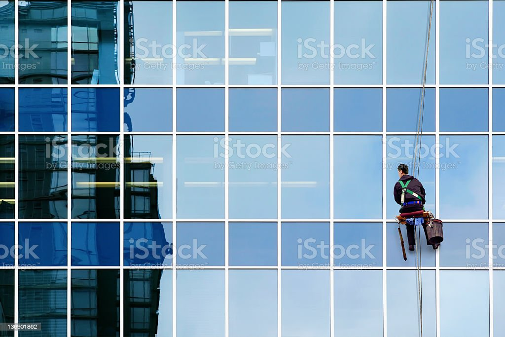 window washer stock photo