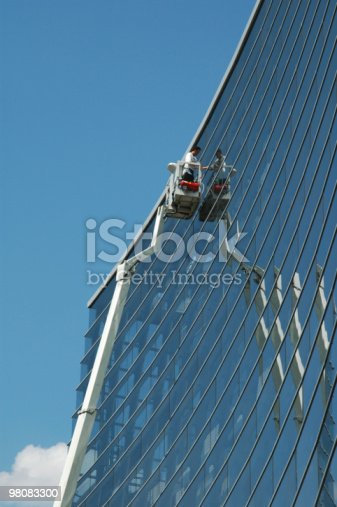 Window Washer Stock Photo & More Pictures of Architecture