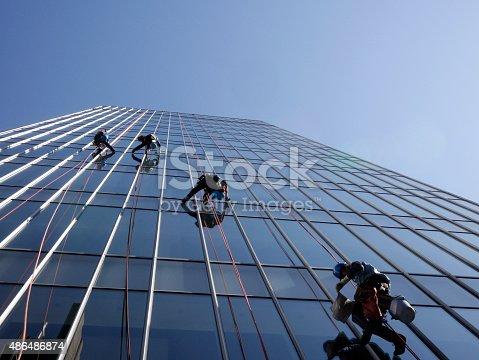 istock Window washers 486486874