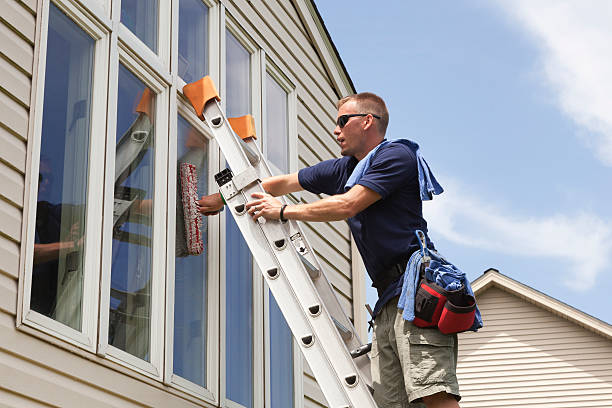 Window Washing Professional stock photo