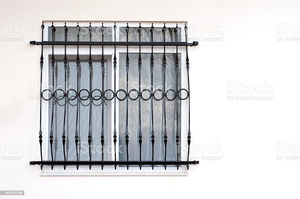 Window with bars royalty-free stock photo
