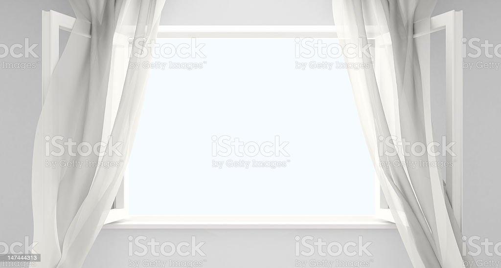 Finestra con tende - foto stock