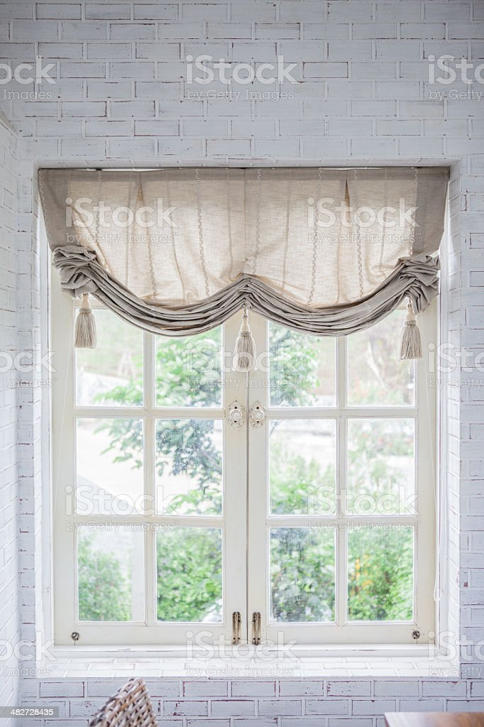 window with bench. royalty-free stock photo