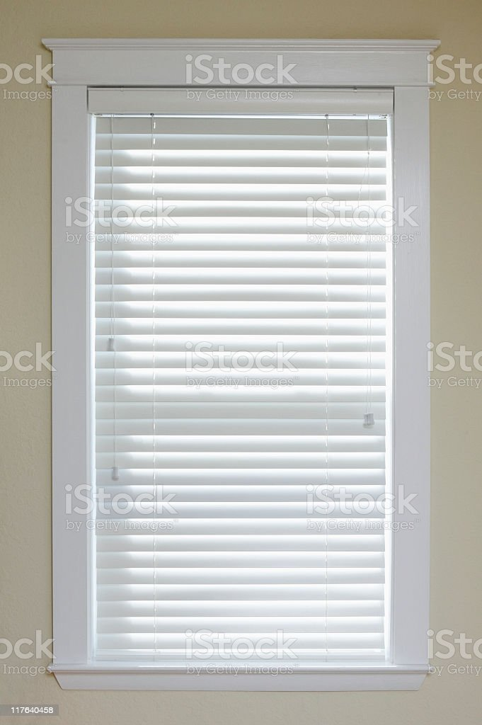 Window with Blinds royalty-free stock photo