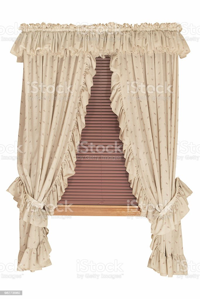 Window with Blinds (Clipping Path) royalty-free stock photo