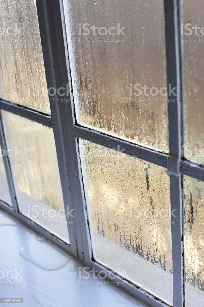 Window with condensation royalty-free stock photo
