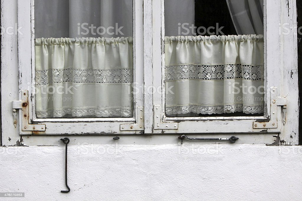 Window with Curtains stock photo