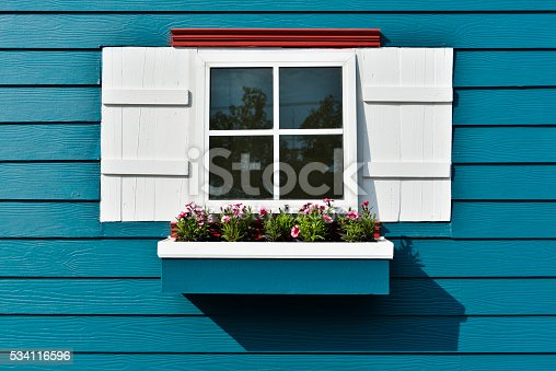 istock Window with flower box. 534116596