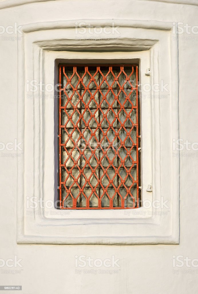 window with grating royalty-free stock photo