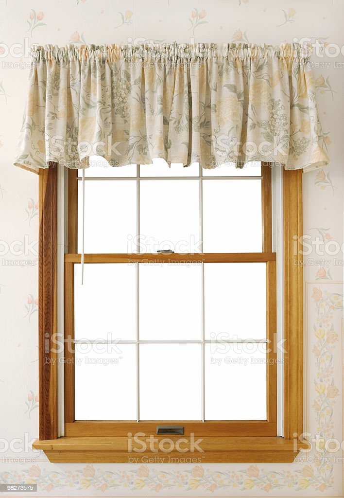 Window with inside isolated (clipping path) royalty-free stock photo