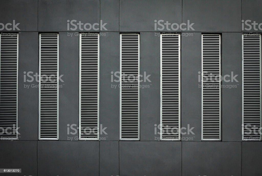Window with light steel shutter. Vector illustration. stock photo