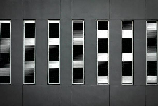 Window with light steel shutter. Vector illustration. - foto de stock