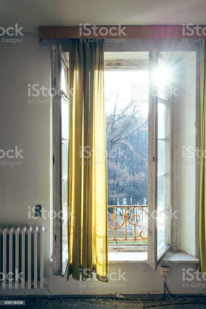 Window with sunlight stock photo