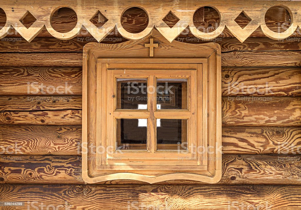 window wooden house. royalty-free stock photo