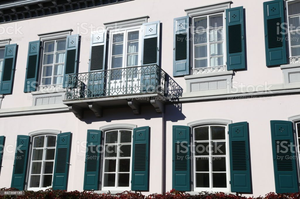 Windows and balconies stock photo