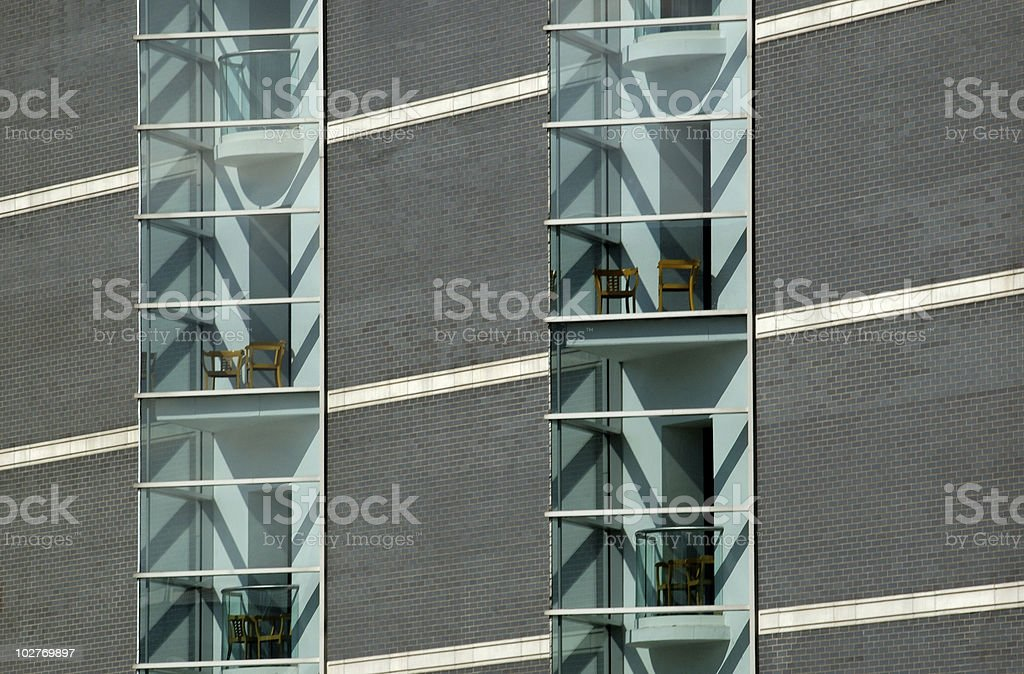 Windows and chairs abstract stock photo