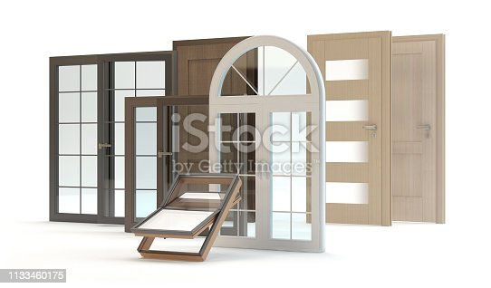 1070686034 istock photo Windows and doors collection 1133460175